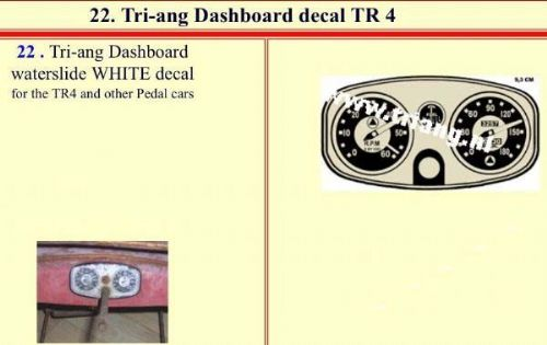22 Tri-ang Dashboard decal TR 4